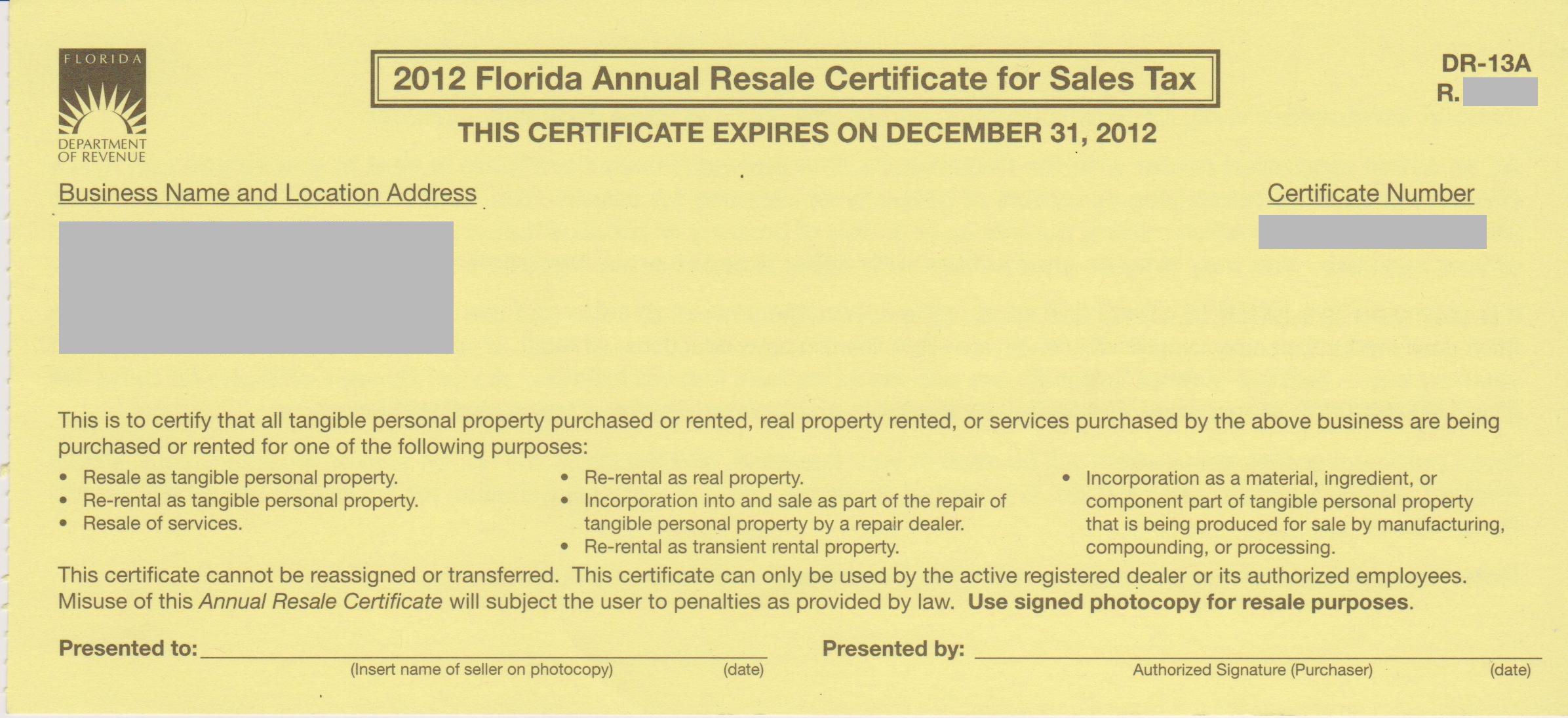 How do i obtain a resale certificate deeperdeals annual resale certificate for sales taxdr 13 xflitez Image collections