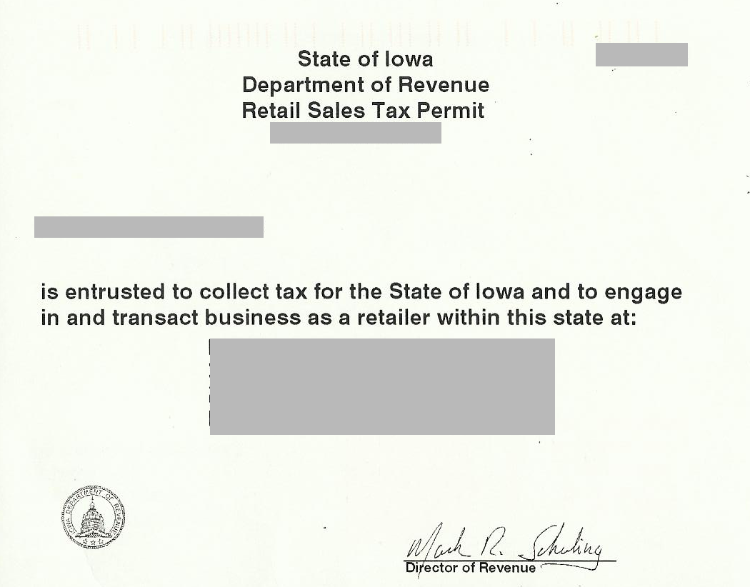 How do i obtain a resale certificate deeperdeals resale or exempt retail sales tax permit 1 1betcityfo Gallery