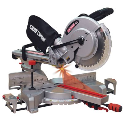 Craftsman - 12' Single Bevel Sliding Compound Miter Saw (21239) The price is $169.99.