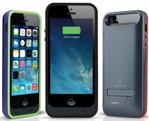 Naztech Apple Certified 2400mAh Power Case for Apple iPhone 5 with Kickstand - Slate The price is $49.99.