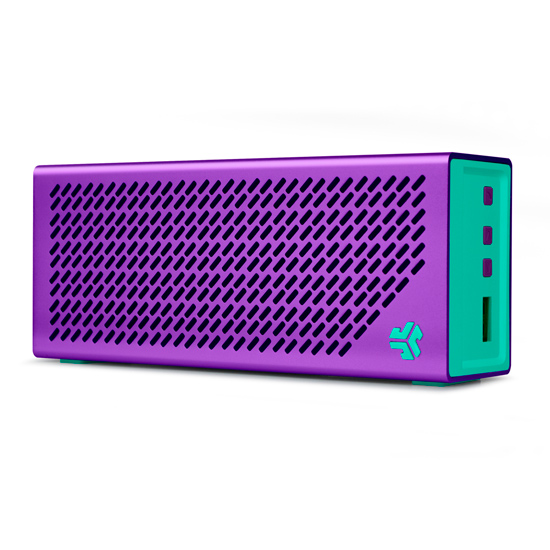 JLab Crasher Bluetooth Portable Speaker, Dark Purple/Teal