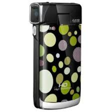 DXG LUXE 1080P POCKET CAMCORDER  POLKA DOTS GREEN