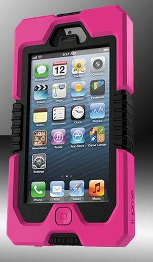 iHome Armo Rugged Case for iPhone 5 (Pink)