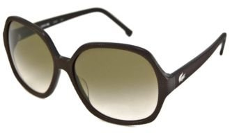 LACOSTE WOMENS SUNGLASSES  BLACK MESH GREY LENS  L613S-001-58