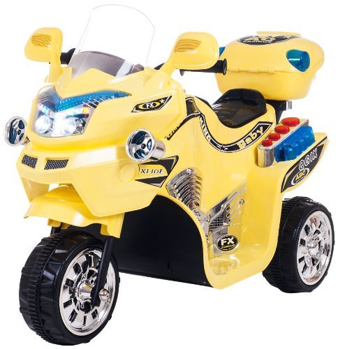 Lil' Rider FX 3 Wheel Battery Powered Bike - Yellow: 80-KB901Y