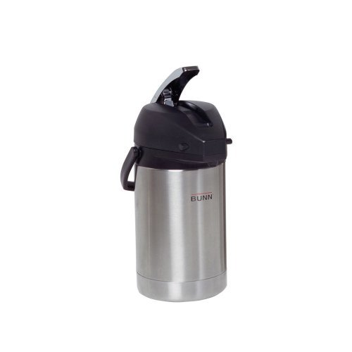 BUNN 32125.0000 2.5 Liter Lever-Action Airpot, Stainless Steel