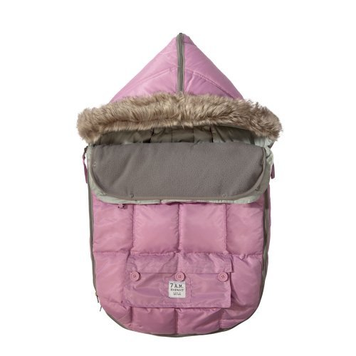 "7A.M. ENFANT ""Le Sac Igloo"" Footmuff, Converts into a Single Panel Stroller and Car Seat Cover - Pin"
