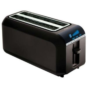 T-Fal 4-Slice Digital Toaster - black