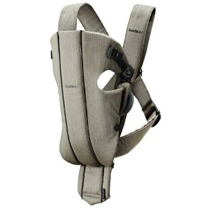 BABYBJÖRN Baby Carrier Original Organic - Walnut- 8-25 pounds