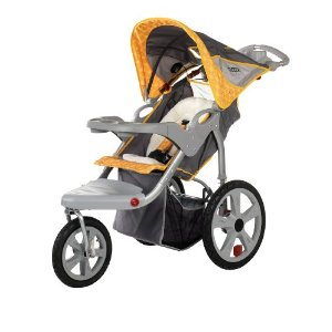 InStep Grand Safari Swivel Wheel Jogger - Gray and Yellow The price is $119.99.
