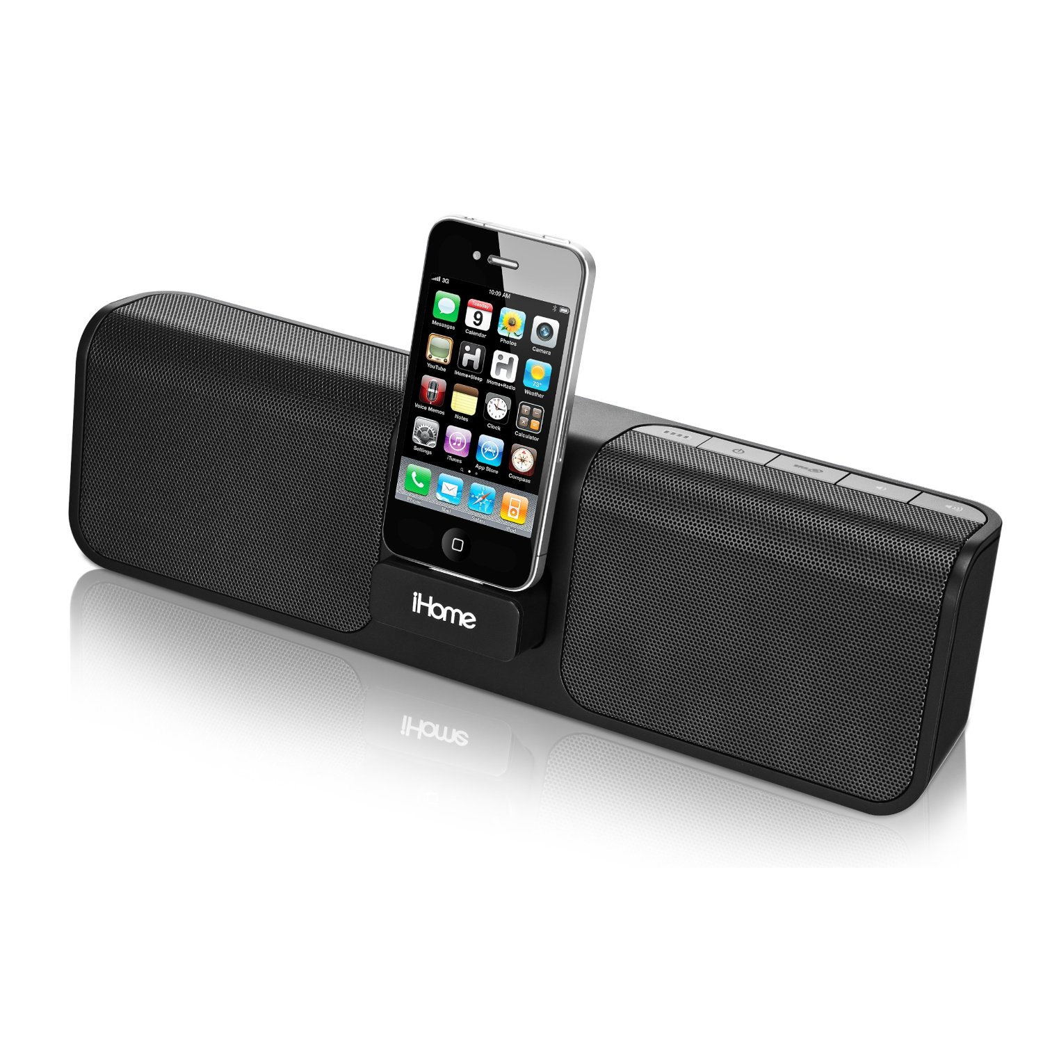 iHome iP46 Portable Speaker System for iPod - Black