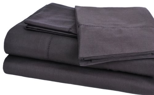 Camden Collection 350-Thread-Count 100-Percent Egyptian Cotton Sateen King Sheet Set, Chocolate The price is $42.99 - $49.99.