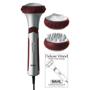 Wahl 4296 Deluxe Wand Full-size Therapeutic Massager, Silver/red