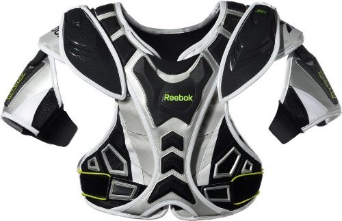 Reebok 10K Shoulder Pad (Black/Silver/Lime, X-Large)