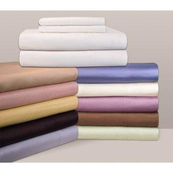 Pointehaven 310 Thread Count 100-Percent Pima Cotton Deep Pocket Luxury Sheet Set