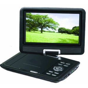 Sylvania SDVD9000B2 9-Inch Portable DVD Player with Car Bag/Kit, Swivel Screen, USB/SD Card Reader,