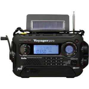Kaito Voyager Pro KA600 Digital Solar/Dynamo AM/FM/LW/SW & NOAA Weather Emergency Radio with Alert & RDS, Black