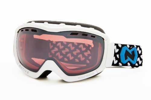 Native Eyewear Kicker Polarized Goggle (Chrome Reflex, Snow) The price is $110.99.
