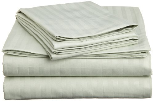 Joseph Abboud Embossed Stripe King Sheet Set, Green