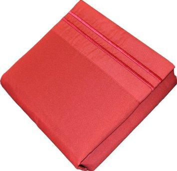 Fashion Street Micro Fiber 4-Piece Sheet Set, Burgundy, Cal King The price is $26.99.
