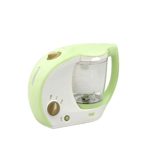 Freshfoods Cook-n-Blend Baby Food Maker feeding baby food