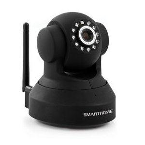 Smarthome 75790 Wireless IP Security Camera with Night Vision, Black
