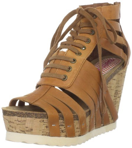 Women's Sobia Wedge Sandal,Natural,8.5 M US