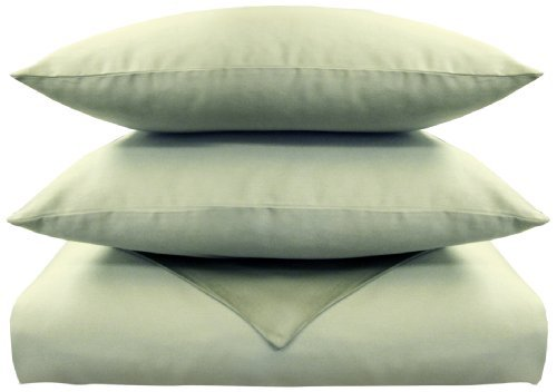 Veratex Supreme Sateen 500 Thread Count 100-Percent Egyptian Cotton Duvet and Sham Set, Sage, Twin The price is $79.99.