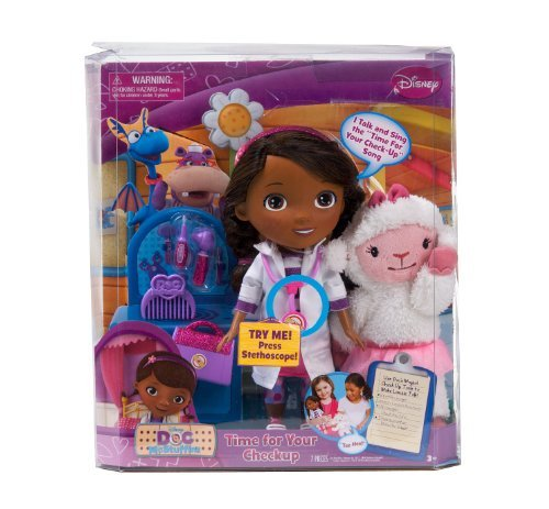 Disney Doc McStuffins Time for Your Checkup Interactive Talking Doll   Lambie Plush Doll