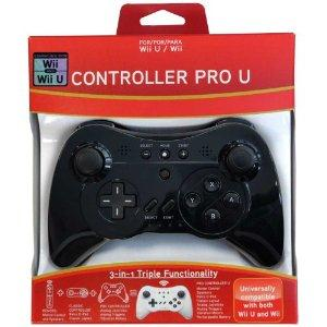 Pro Controller U for Wii and Wii U - Black