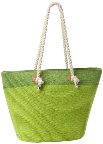 Magid Two Tone Large Rope Tote,Lime/Combo,One Size