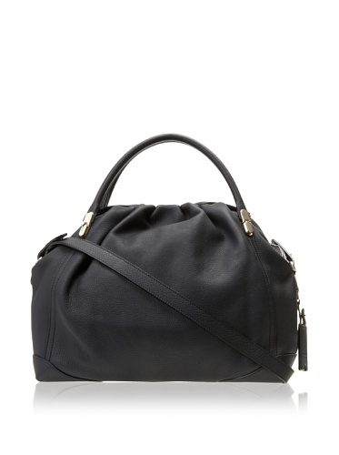 Nina Ricci Women's Medium Zip Top Bowler Bag, Black