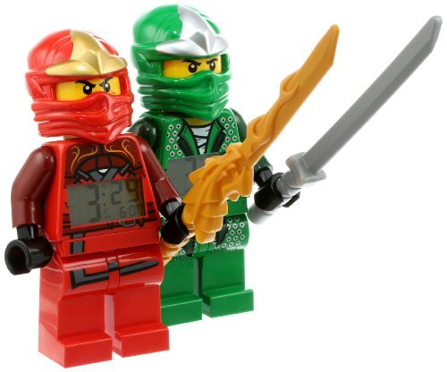 LEGO Kids' 9009907 Ninjago Kai ZX and Lloyd ZX Minifigure Clocks 2 Pack The price is $29.99.