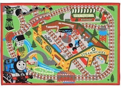 Thomas & Friends Railroad Game Rug with 2 Trains