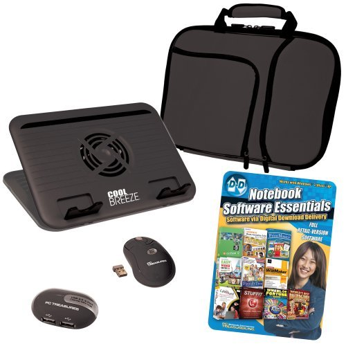 PC Treasures Computer Accessory Kit with Digital Download Software for 11.6-Inch Netbook - Black