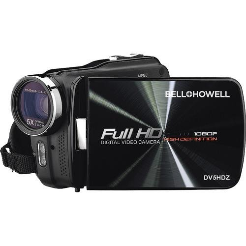 Bell+Howell DV5HDZ Touch Screen Full High Definition 1080p Digital Video Camcorder with 5x Optical Z