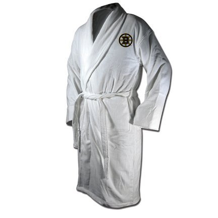 NHL Boston Bruins Cotton Robe (Black, One Size)