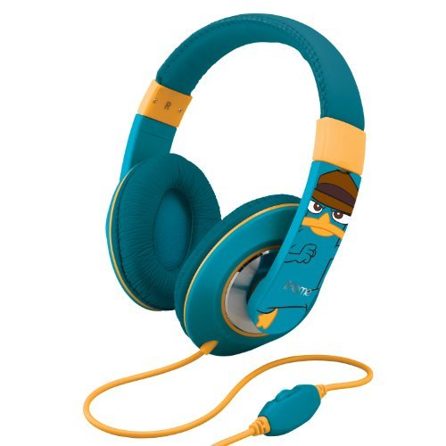 eKids Phineas and Ferb; Over the Ear Headphones, by iHome  - DF-M403