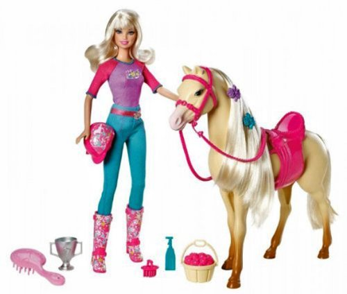 Barbie Doll and Tawny Horse Playset The price is $21.99 - $29.99.