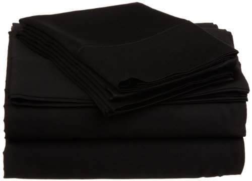 Egyptian Cotton 530 Thread Count Full Sheet Set Solid, Black The price is $49.99 - $59.99.