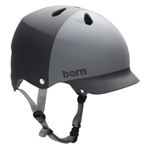 BERN Watts EPS 2-Tone Summer Matte Helmet (Black/Grey, Medium) The price is $39.99.