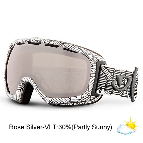 Giro Basis Spherical Lens Goggle (White Roofs, Rose Silver 30) The price is $38.99.