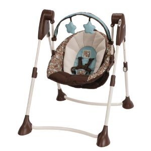 Graco Swing By Me Portable 2-in-1 Swing, Little Hoot The price is $51.99 - $61.99.