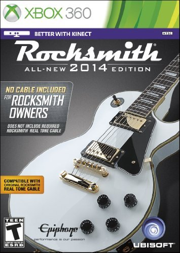 Rocksmith 2014 Edition - 'No Cable Included' Version for Rocksmith Owners -Xbox 360 The price is $32.99.