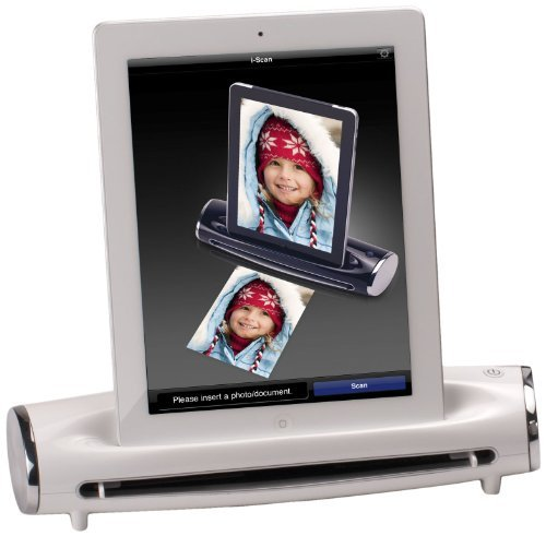 Mustek DockingScan S400 Photo Document Scanner for iPad 2, White The price is $119.99.