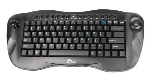 SIIG Wireless Mini Multimedia Trackball Keyboard (JK-WR0412-S1) The price is $35.99.